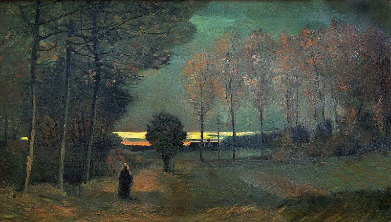 Autumn Landscape at Dusk, Vincent van Gogh