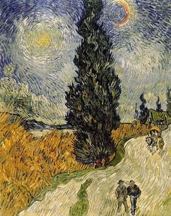 Road with Cypress and Star, Vincent van Gogh
