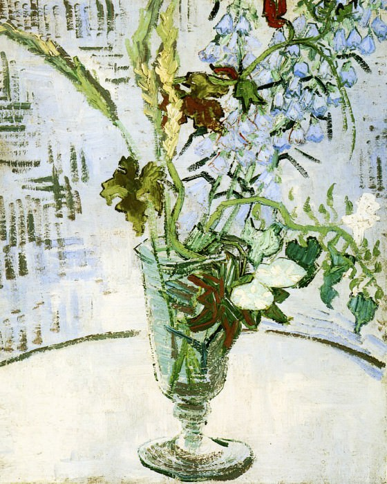 Flowers in a Vase, Vincent van Gogh