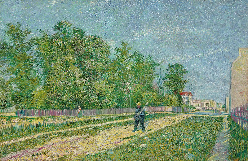 Man with Spade in a Suburb of Paris, Vincent van Gogh