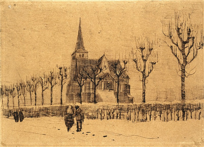 Landscape with a Church, Vincent van Gogh