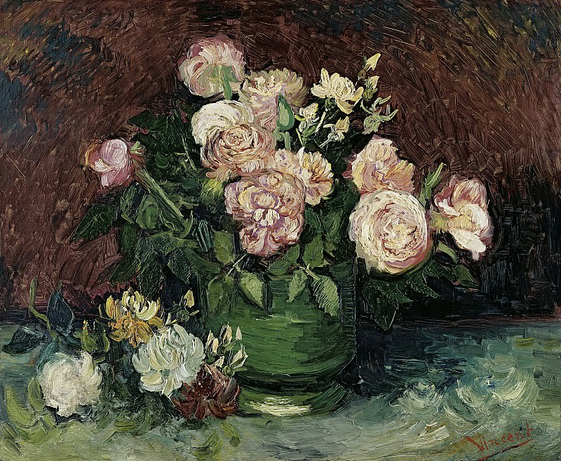 Bowl with Peonies and Roses, Vincent van Gogh