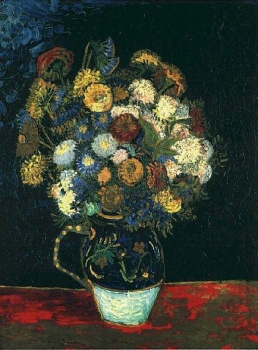 Vase with Zinnias, Vincent van Gogh