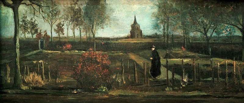 Parish garden in Nuenen, Spring, Vincent van Gogh