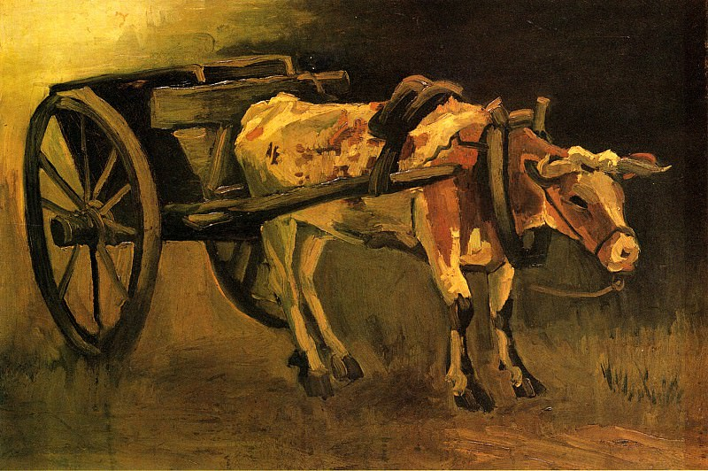 Cart with Ox, Vincent van Gogh