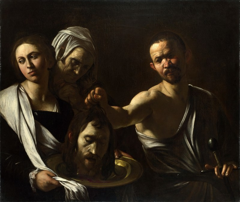 Salome receives the Head of Saint John the Baptist, Michelangelo Merisi da Caravaggio