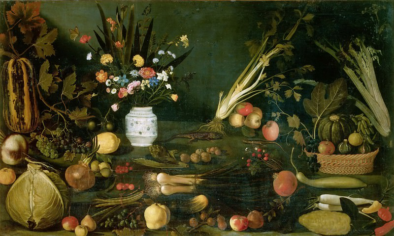 Still Life with Flowers, vegetables and Fruit school, Michelangelo Merisi da Caravaggio