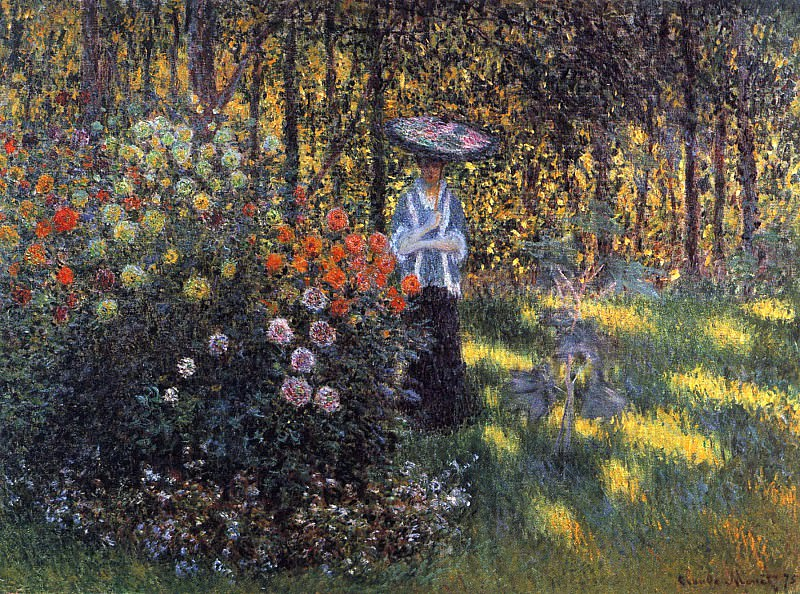 Woman with a Parasol in the Garden in Argenteuil, Claude Oscar Monet