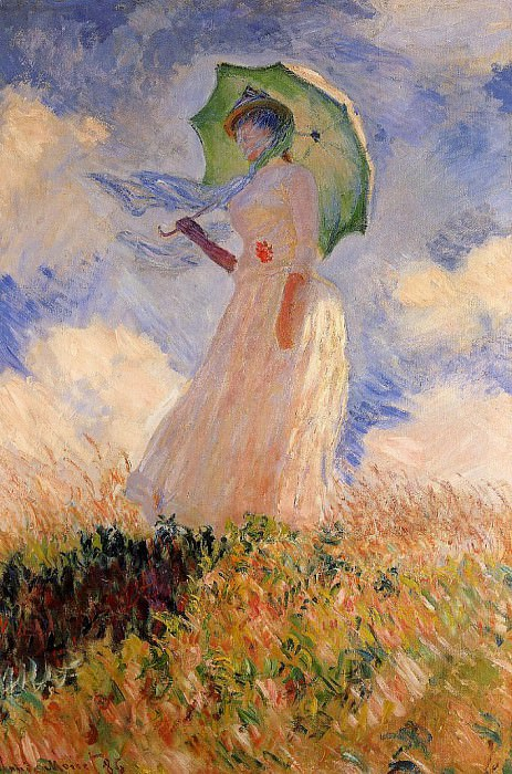 Woman with a Parasol also known as Study of a Figure Outdoors Facing Left, Claude Oscar Monet
