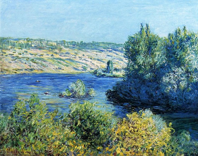 The Seine at Vetheuil, Claude Oscar Monet