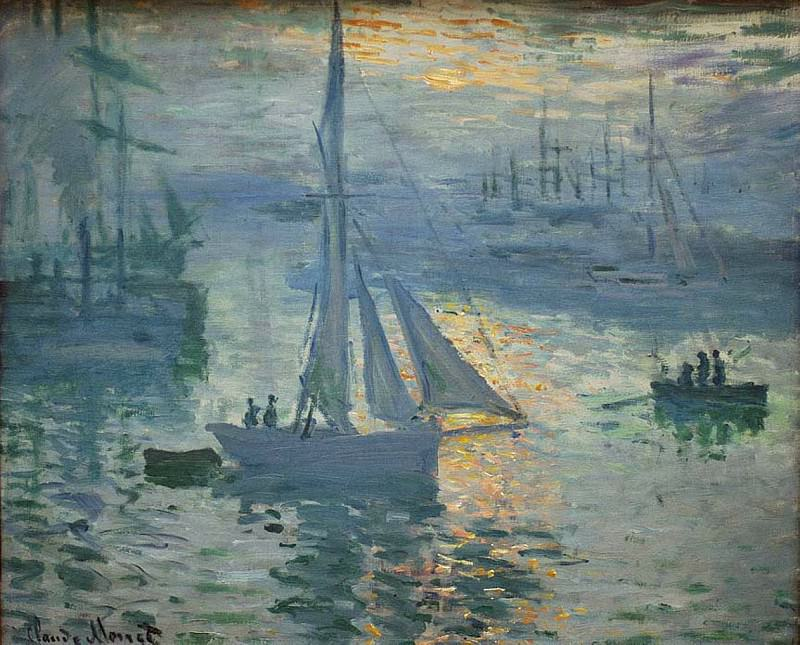 Sunrise, The Sea, Claude Oscar Monet
