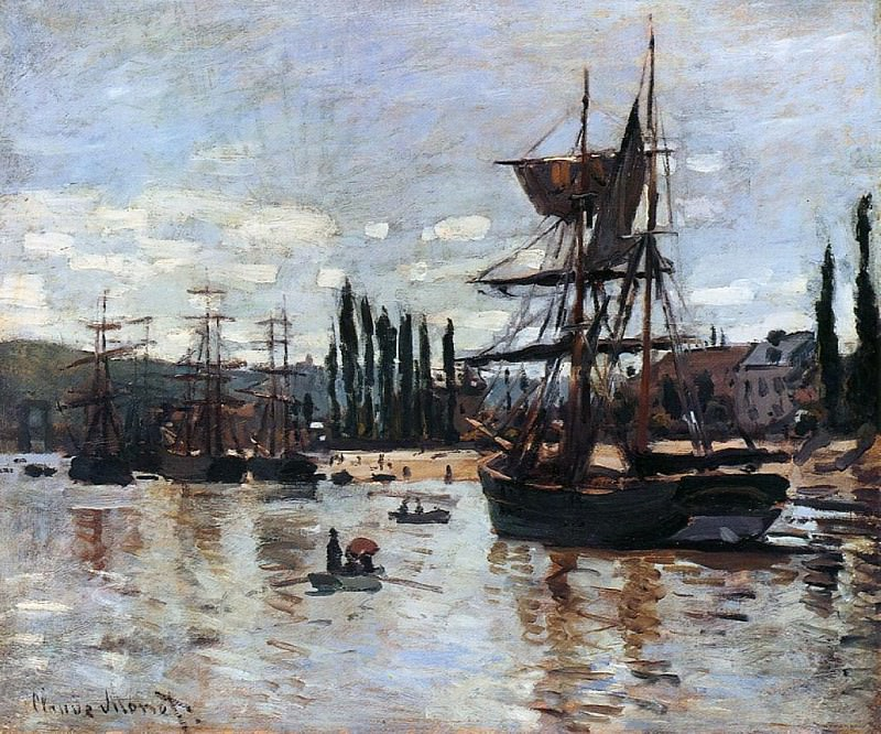 Boats at Rouen, Claude Oscar Monet
