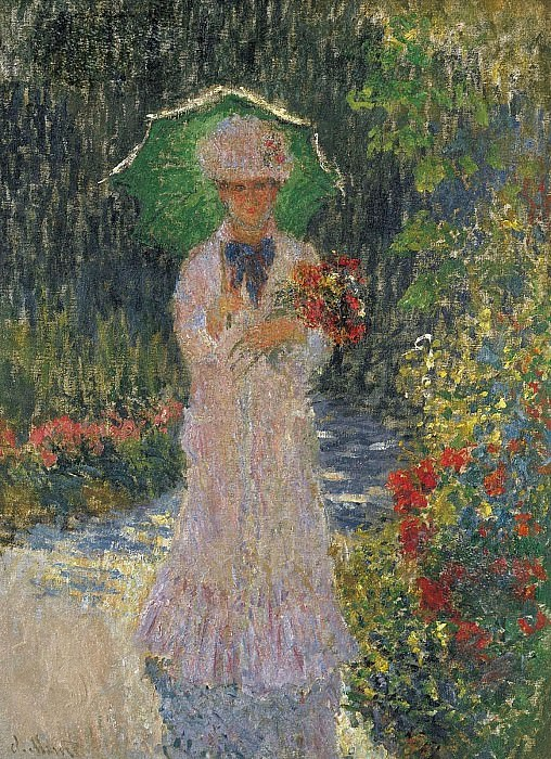Camille with Green Parasol, Claude Oscar Monet