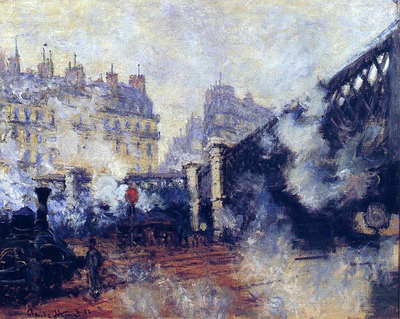 Saint-Lazare Station, The Pont de lEurope, Claude Oscar Monet