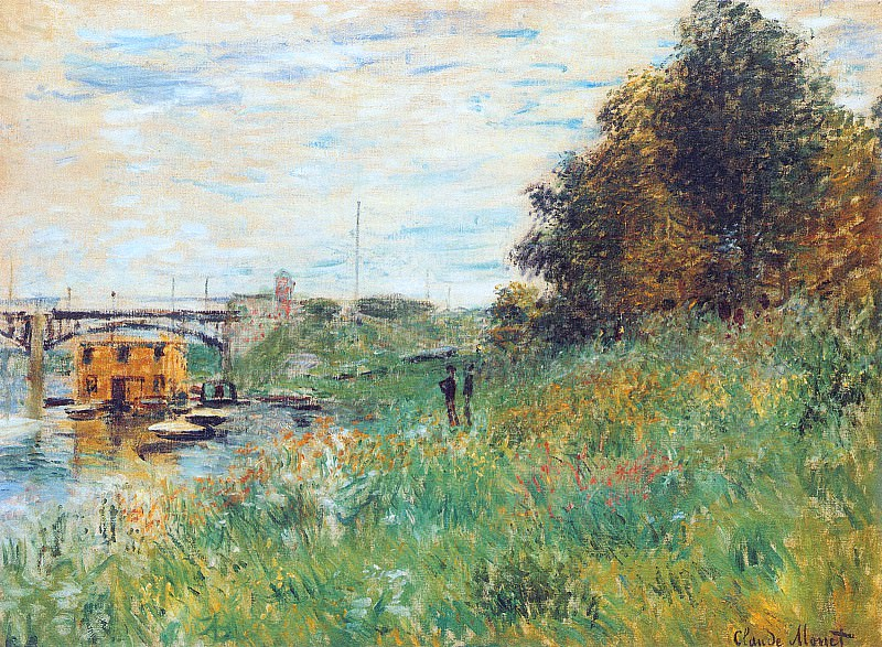 The Banks of the Seine at the Argenteuil Bridge, Claude Oscar Monet