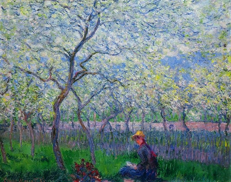 An Orchard in Spring, Claude Oscar Monet