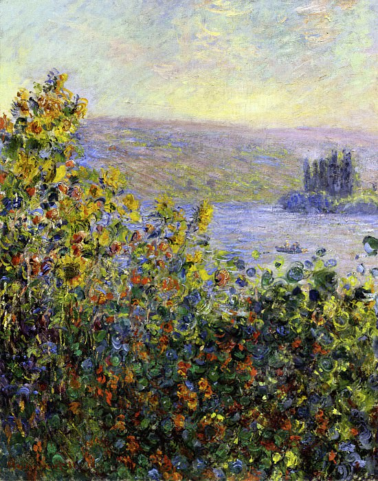 Flowers Beds at Vetheuil, Claude Oscar Monet