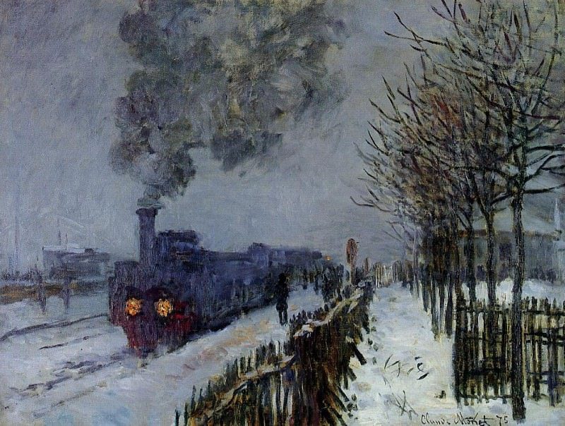 Train in the Snow, the Locomotive, Claude Oscar Monet