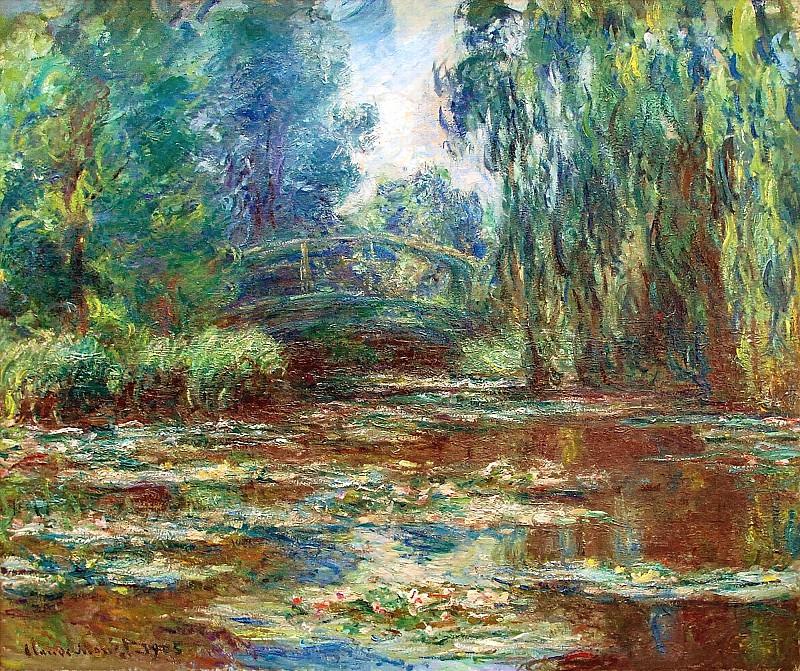 Water Lily Pond and Bridge, Claude Oscar Monet