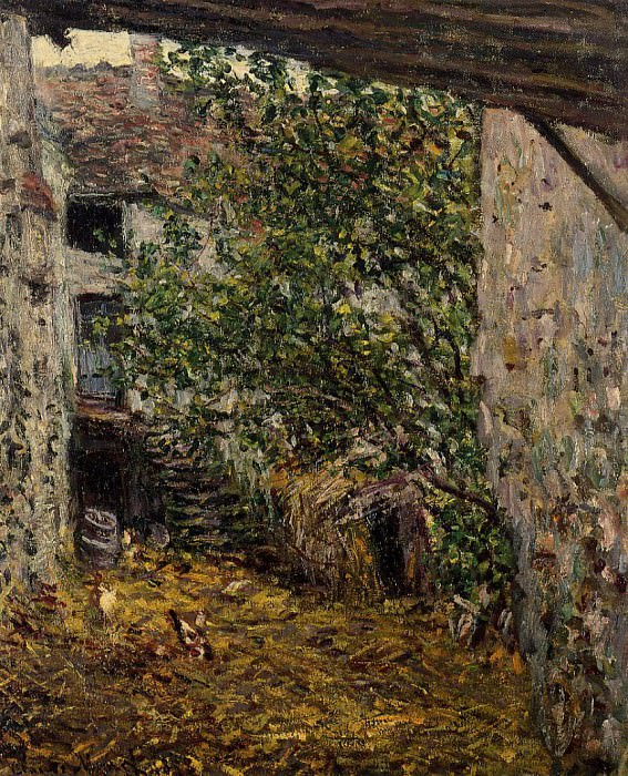 Farmyard, Claude Oscar Monet