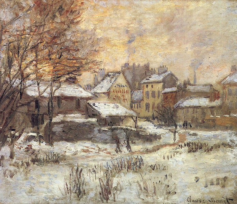 Snow Effect With Setting Sun, Claude Oscar Monet