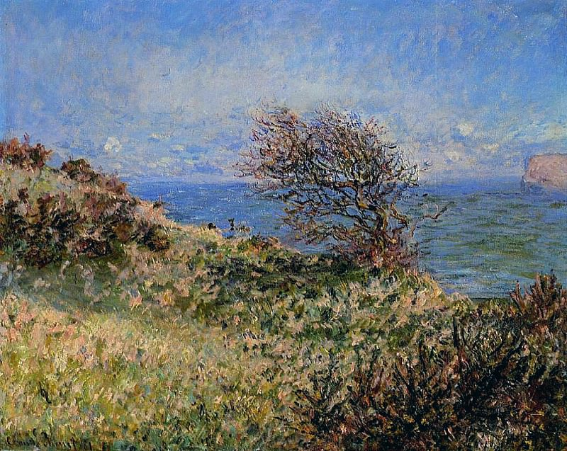 On the Cliff at Fecamp, Claude Oscar Monet