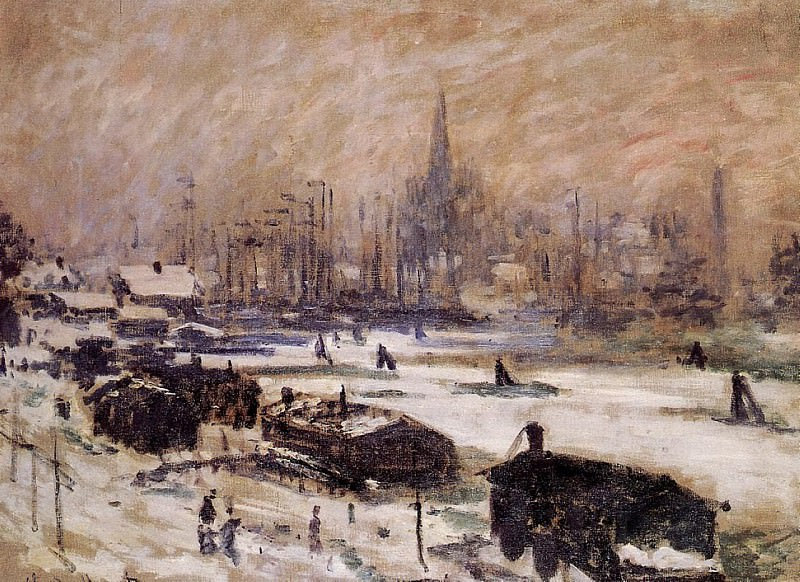 Amsterdam in the Snow, Claude Oscar Monet