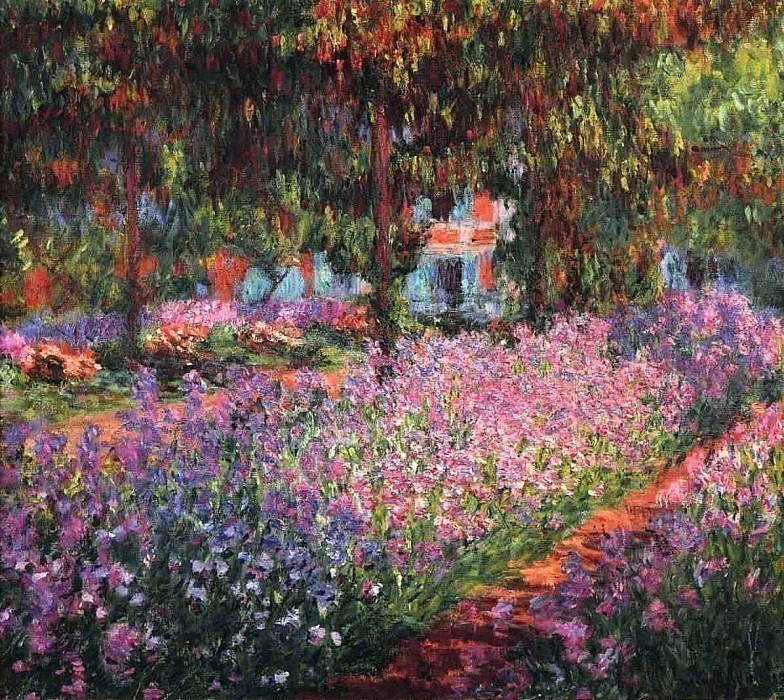 Irises in Monets Garden 01, Claude Oscar Monet