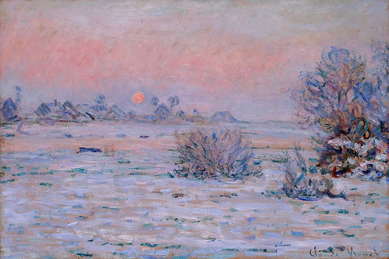 Winter Sun, Lavacourt, Claude Oscar Monet