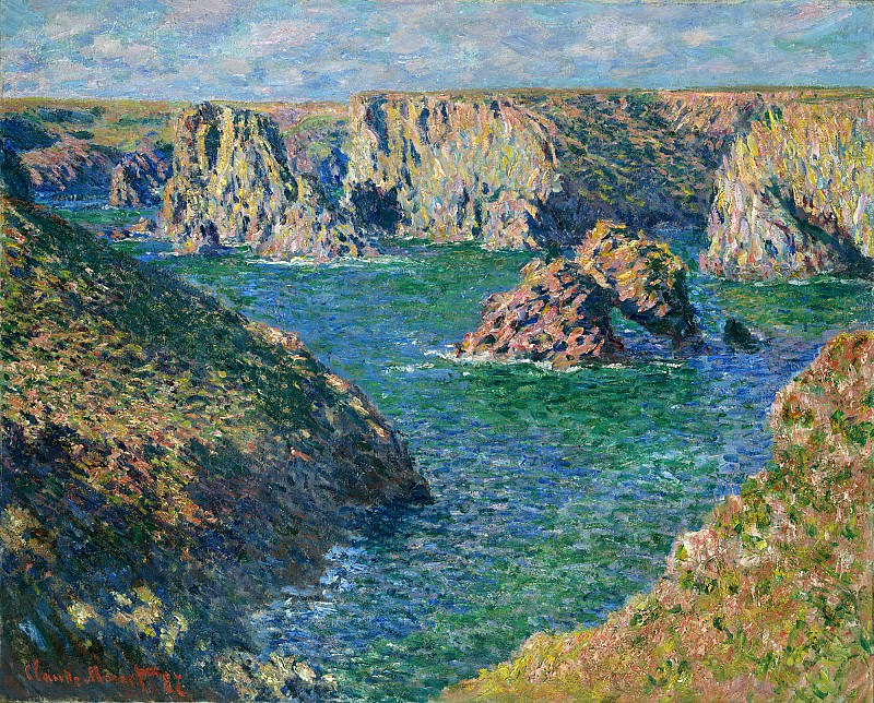 Port Donnant, Belle Ile, Claude Oscar Monet