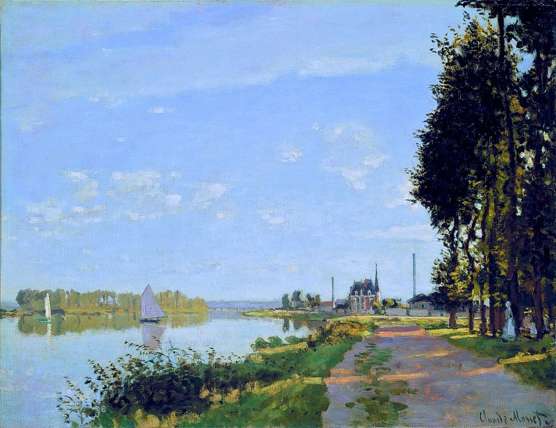 The Promenade at Argenteuil, Claude Oscar Monet