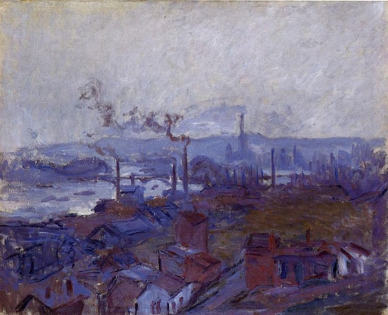 View of Rouen from the Cote Sainte Catherine, Claude Oscar Monet