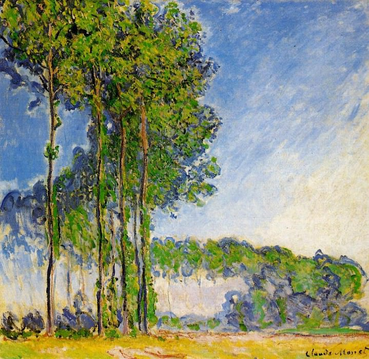 Poplars, View from the Marsh, Claude Oscar Monet