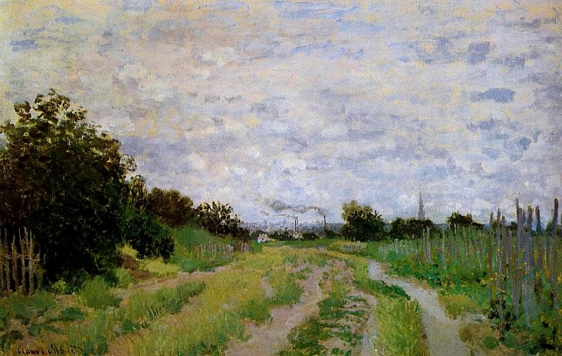 Lane in the Vineyards at Argenteuil, Claude Oscar Monet