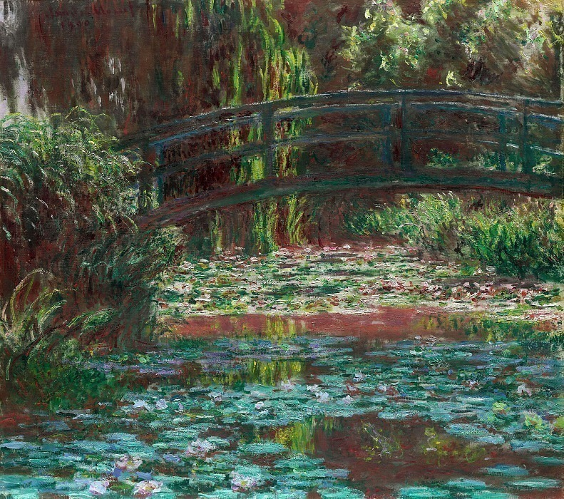 The Japanese Bridge The Bridge over the Water-Lily Pond, Claude Oscar Monet