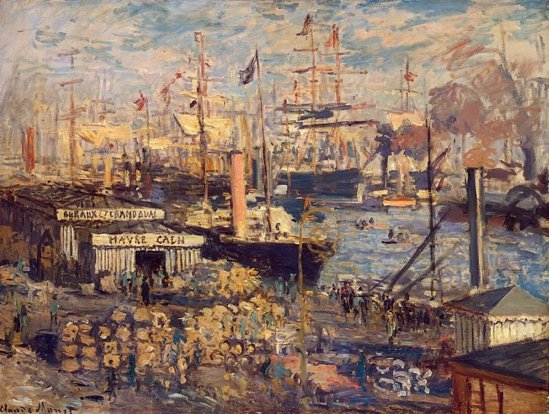 The Grand Dock at Le Havre Le Grand Quai au Le Havre, Claude Oscar Monet