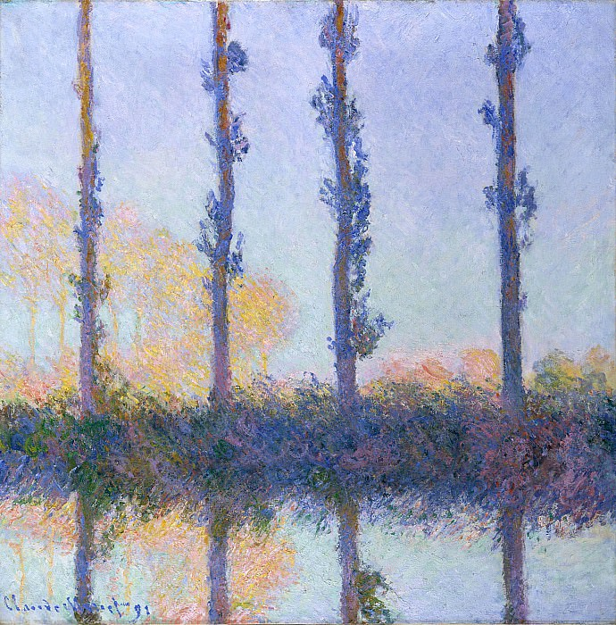 Poplars Four Trees, Claude Oscar Monet