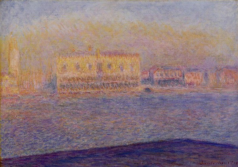 The Doges Palace Seen from San Giorgio Maggiore, Venice, Claude Oscar Monet