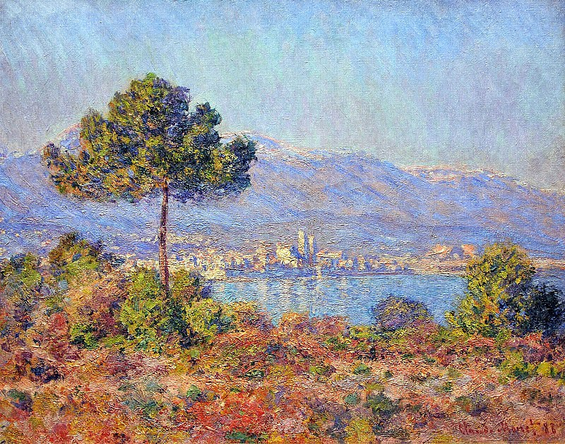 View of Antibes from the Notre-Dame Plateau, Claude Oscar Monet