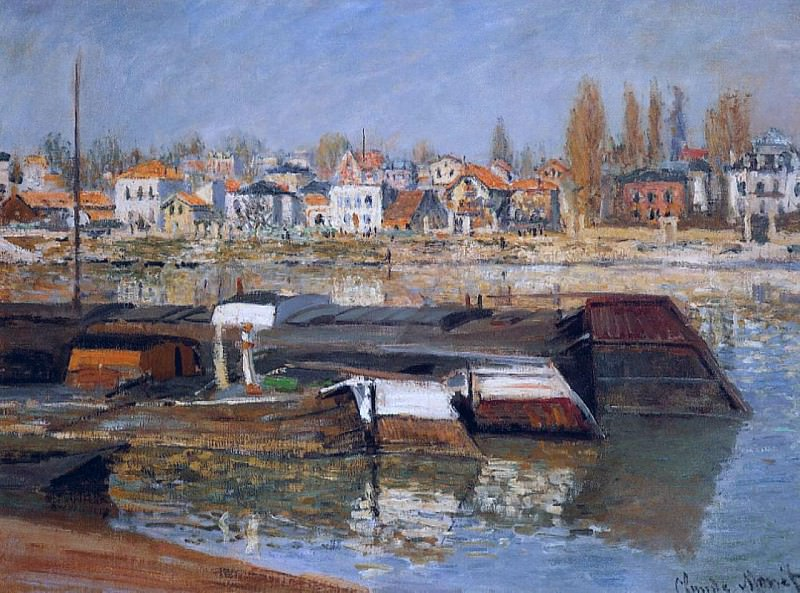 The Seine at Asnieres 01, Claude Oscar Monet