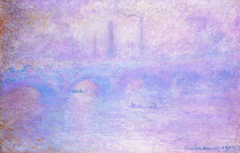 Waterloo Bridge, Fog, Claude Oscar Monet