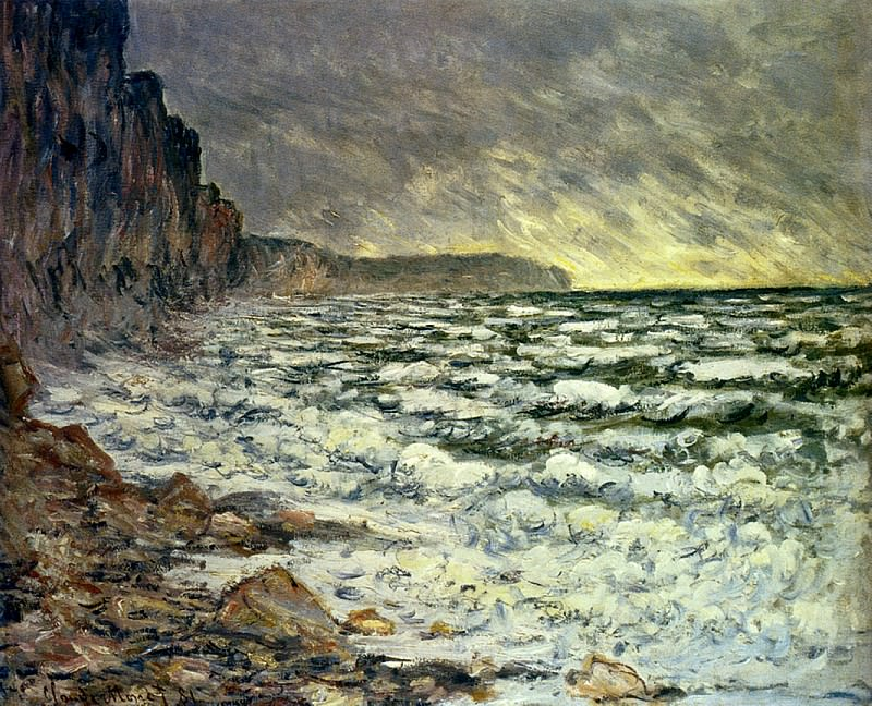 The Sea at Fecamp, 1881 2, Claude Oscar Monet