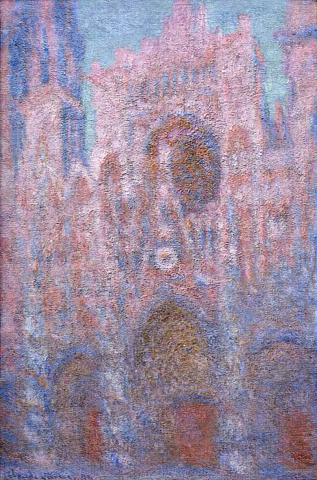 Rouen Cathedral, Symphony in Grey and Rose, Claude Oscar Monet