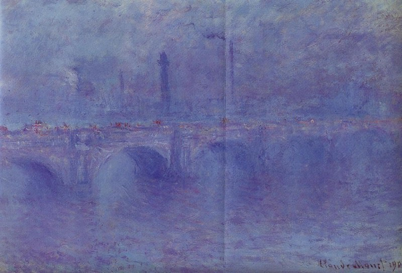 Waterloo Bridge, Fog Effect, Claude Oscar Monet
