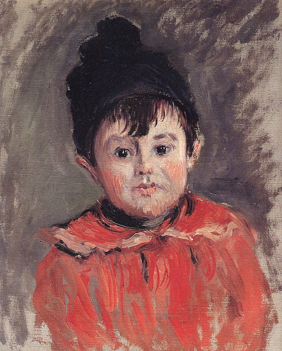 Portrait of Michael with Hat and Pom Pom, Claude Oscar Monet