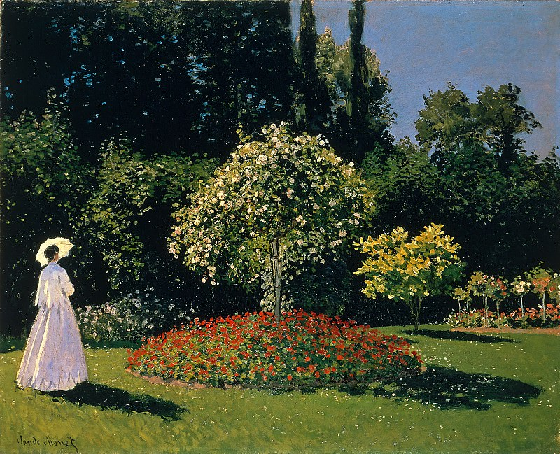 Jeanne Marguerite Lecadre in the Garden, Claude Oscar Monet