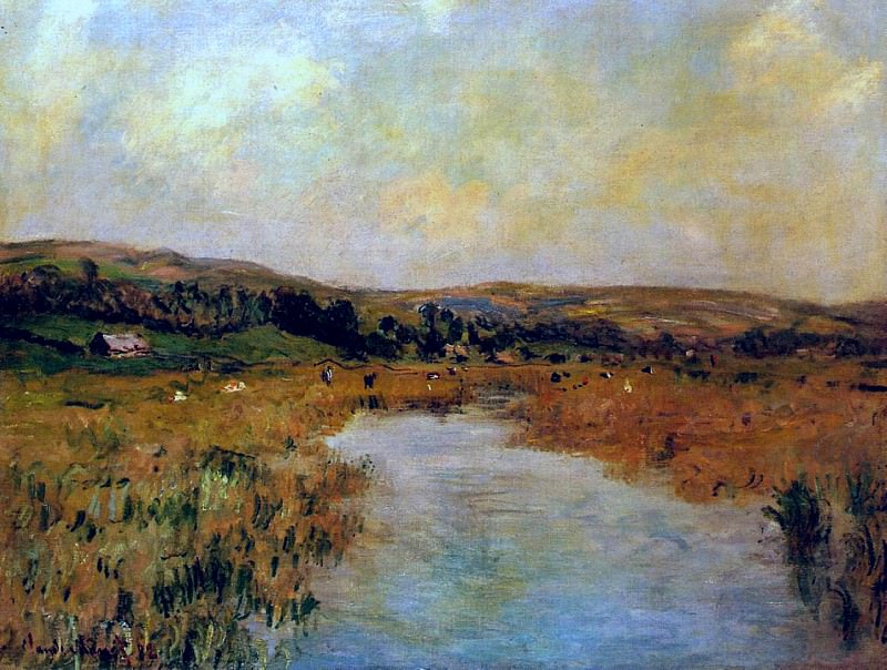 The Valley of the Scie at Pouville, Claude Oscar Monet