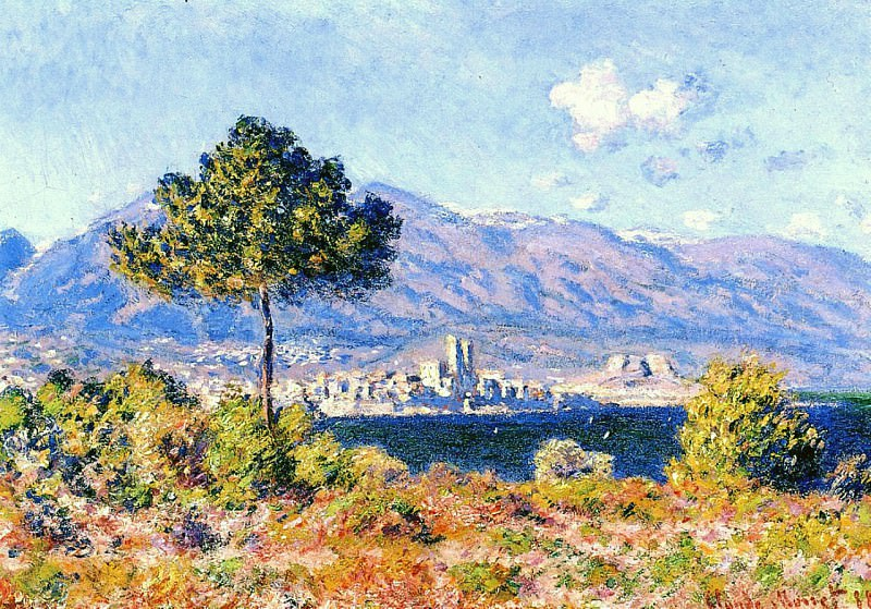 View of Antibes from the Plateau Notre-Dame, Claude Oscar Monet