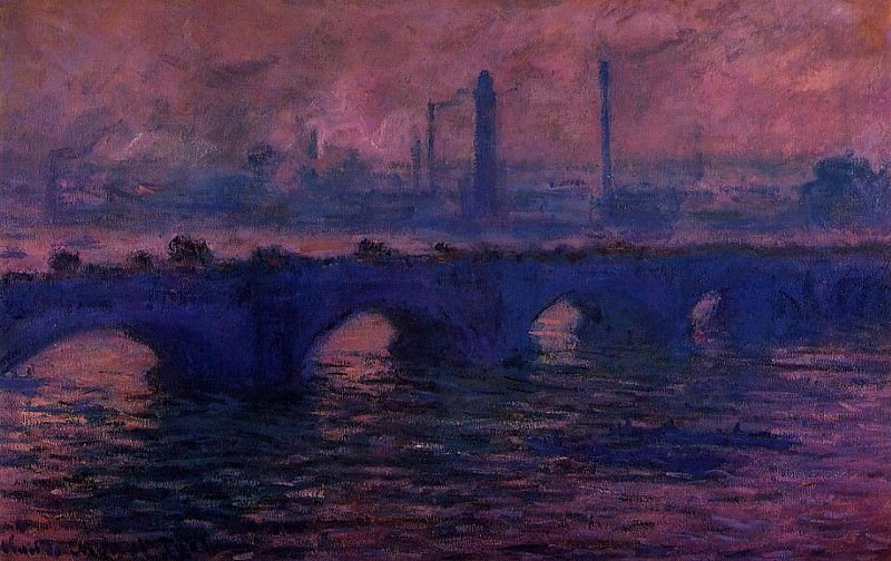 Waterloo Bridge, Overcast Weather 2, Claude Oscar Monet
