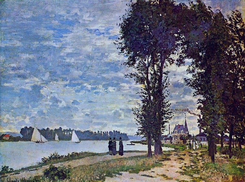 The Banks of the Seine at Argenteuil, Claude Oscar Monet